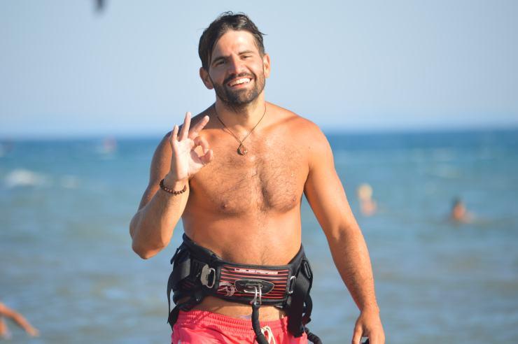 Kite Surfer in Montenegro